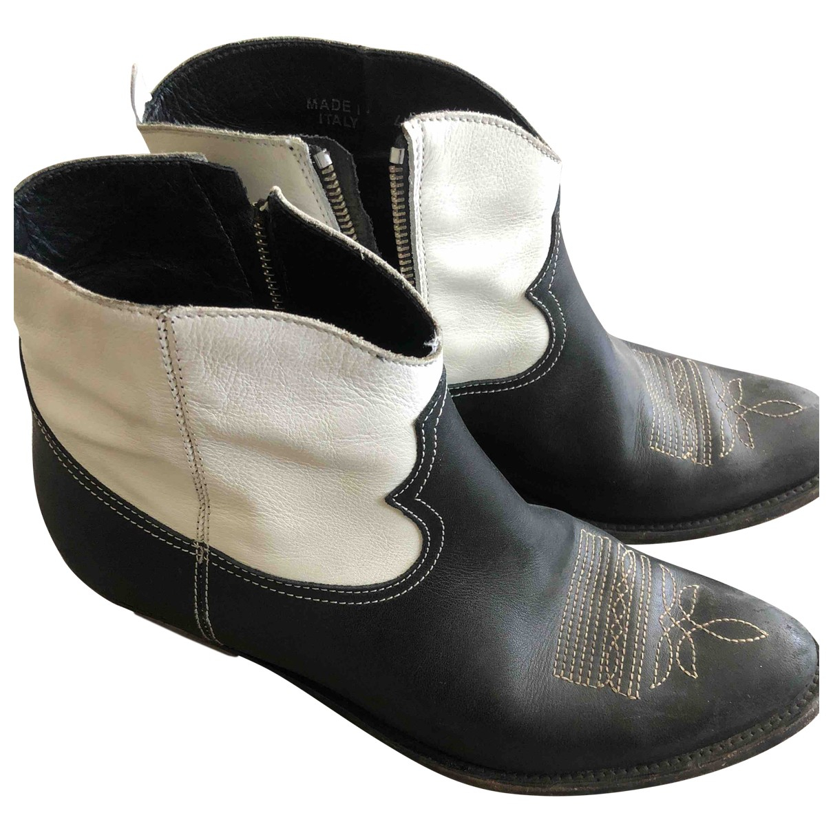 Golden Goose \N Black Leather Ankle boots for Women 40 EU