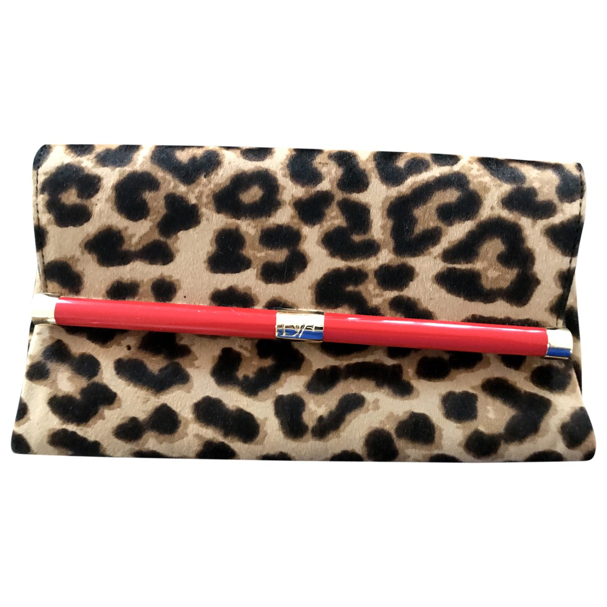 Diane Von Furstenberg \N Clutch in  Bunt Kalbsleder in Pony-Optik