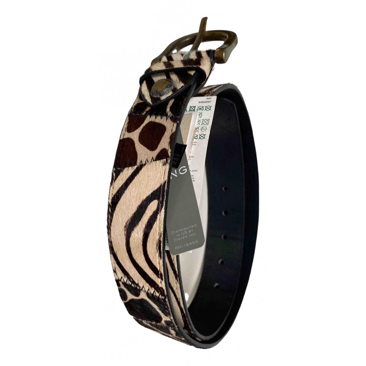 Mango \N Black Leather belt for Women L International