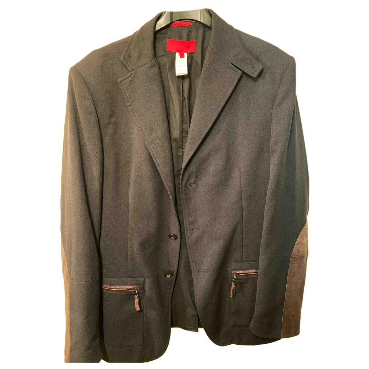 Autre Marque N Black Wool jacket  for Men 54 IT