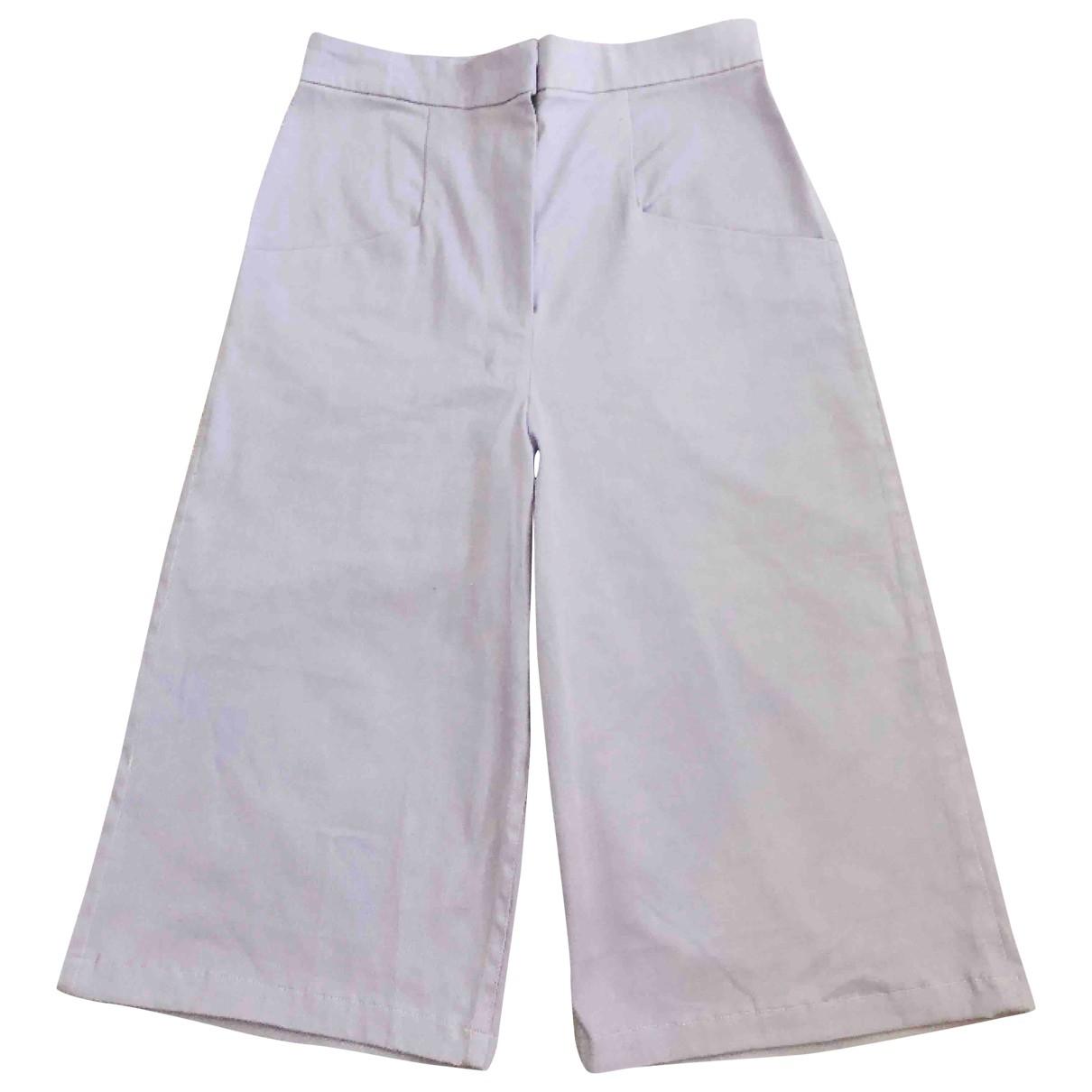 Non Signé / Unsigned \N Purple Cotton Shorts for Women 36 FR