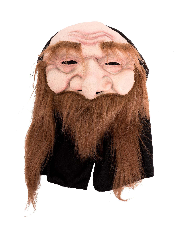 Kostuemzubehor Latexmaske Mann mit Bart Farbe: Multicolor