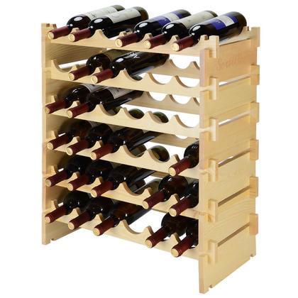 Porte-bouteilles en bois 36 Porte-bouteilles Rangement à six niveaux - SortWise ™