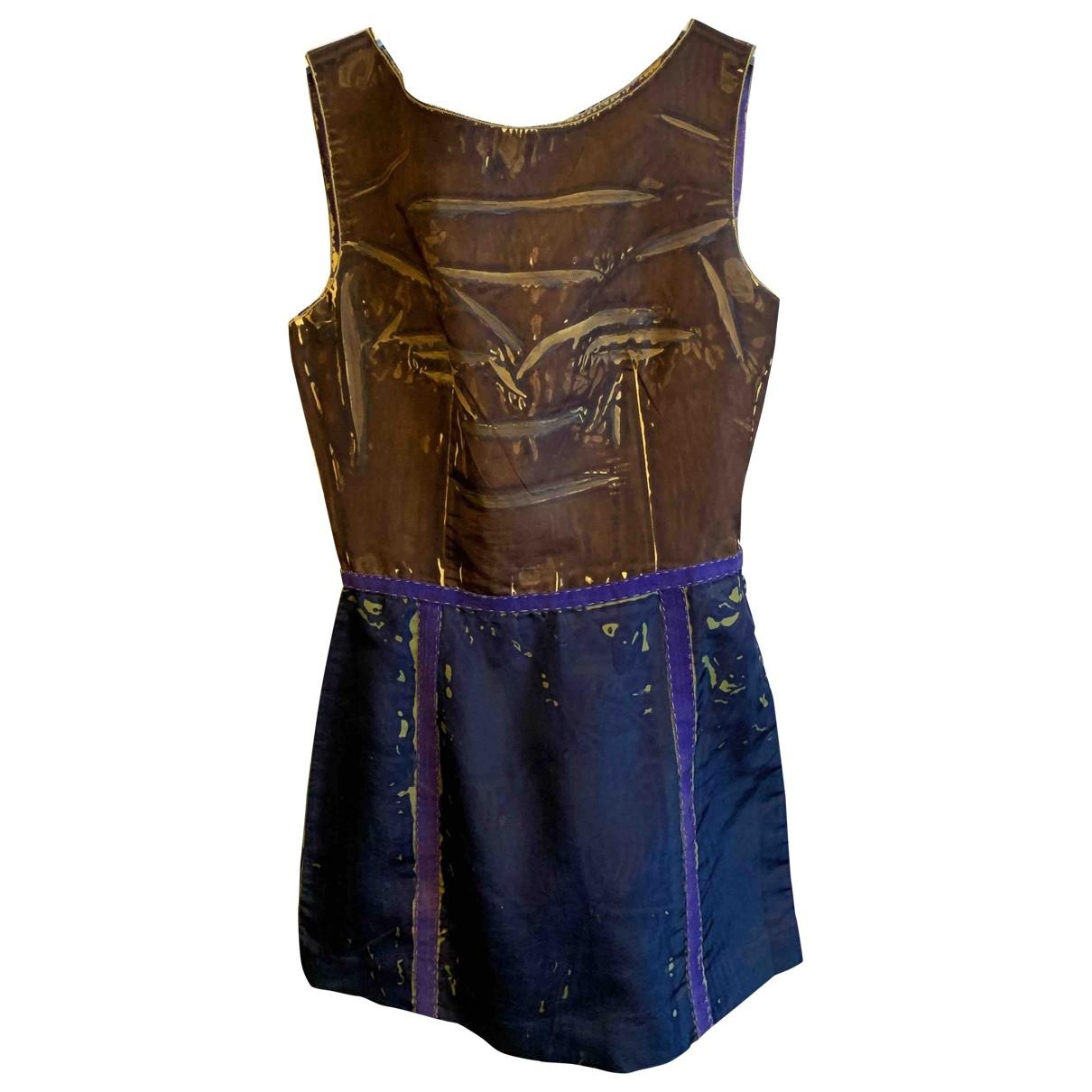 Prada - Robe   pour femme en soie - marine