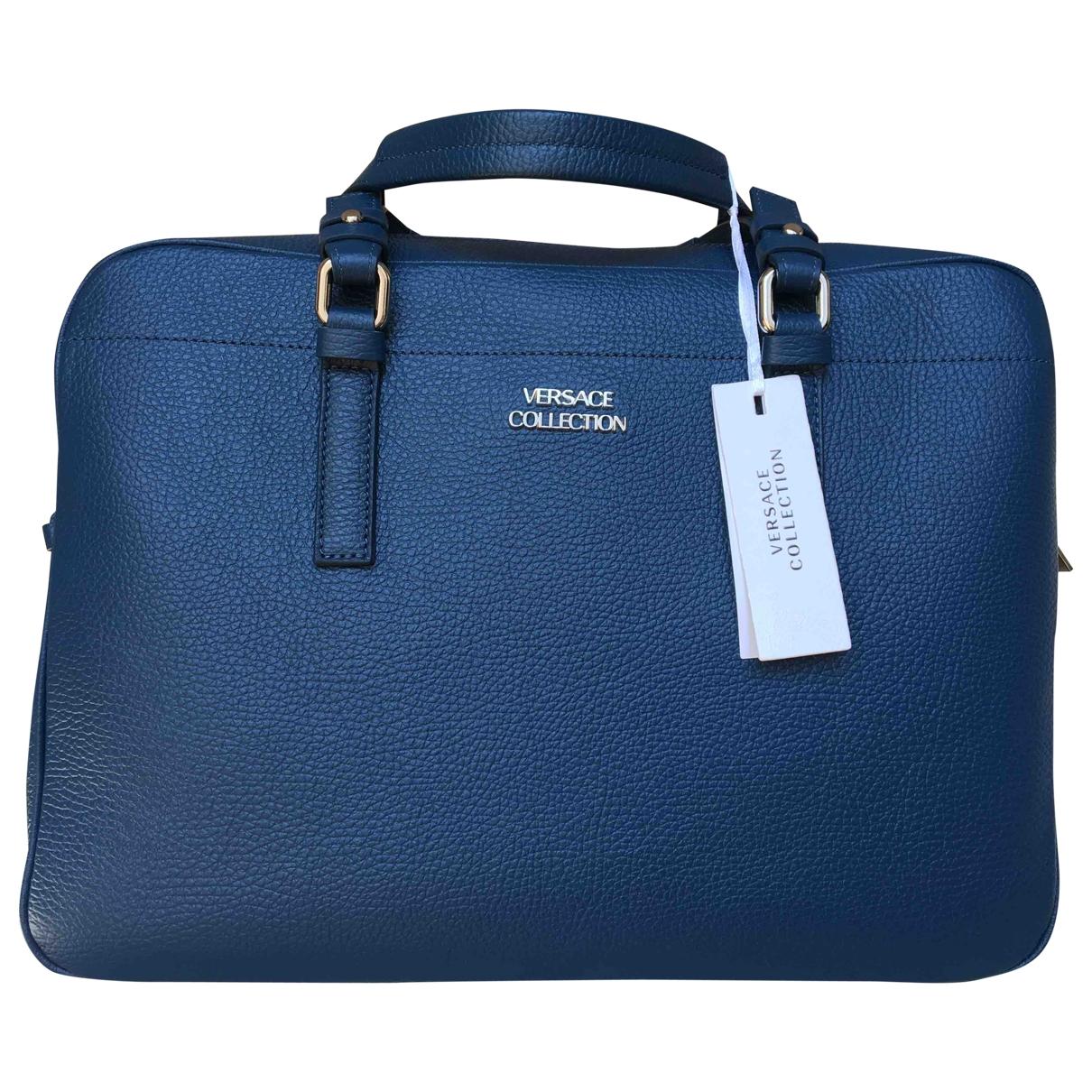 Versace \N Rucksaecke in  Blau Leder