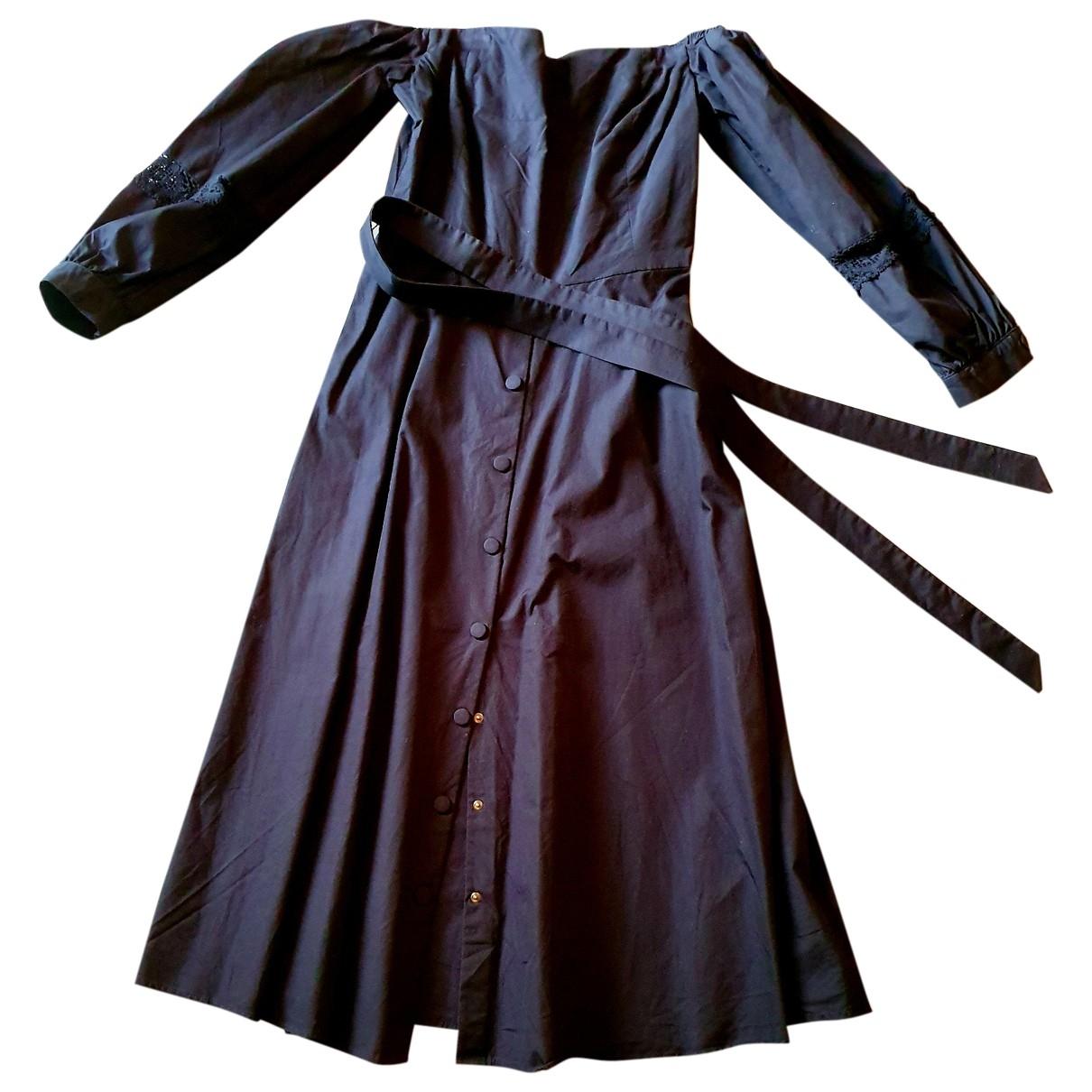 Claudie Pierlot Spring Summer 2019 Kleid in  Schwarz Baumwolle