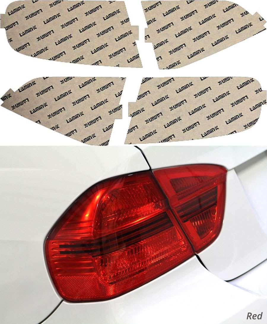 Audi A4 & S4 Sedan 09-12 Red Tail Light Covers Lamin-X A218R
