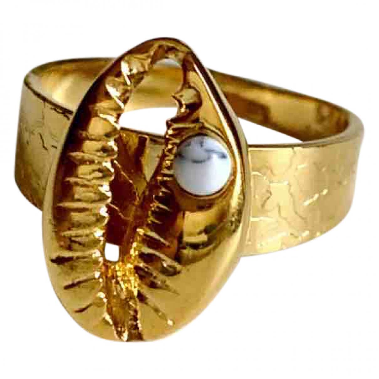 - Bague Motifs Coquillages pour femme en acier - dore