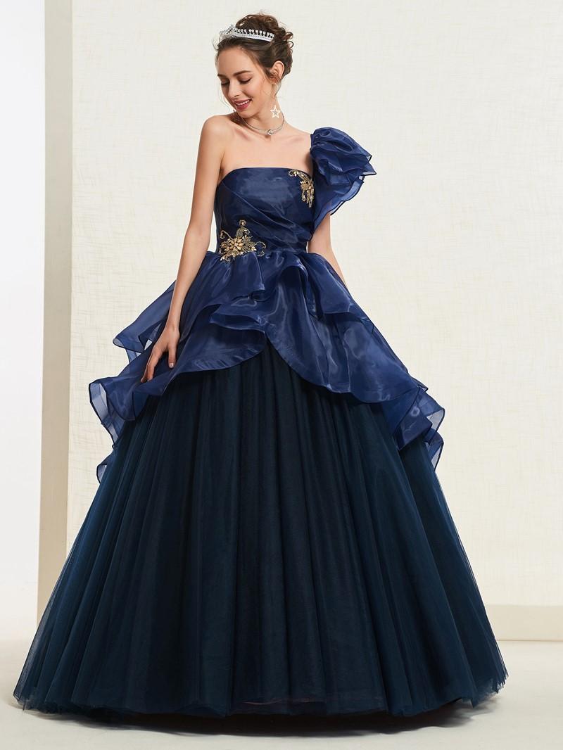 Ericdress One Shoulder Short Sleeves Quinceanera Dress