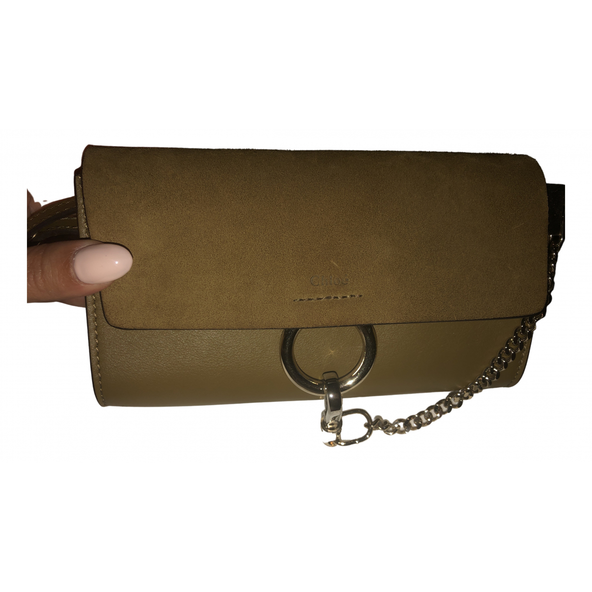 Chloé Faye Khaki Suede handbag for Women N