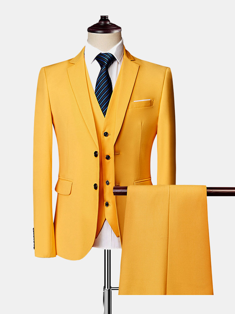 Three Pieces Wedding Suit Business Formal Show Evening Party Dressing Suit for Men