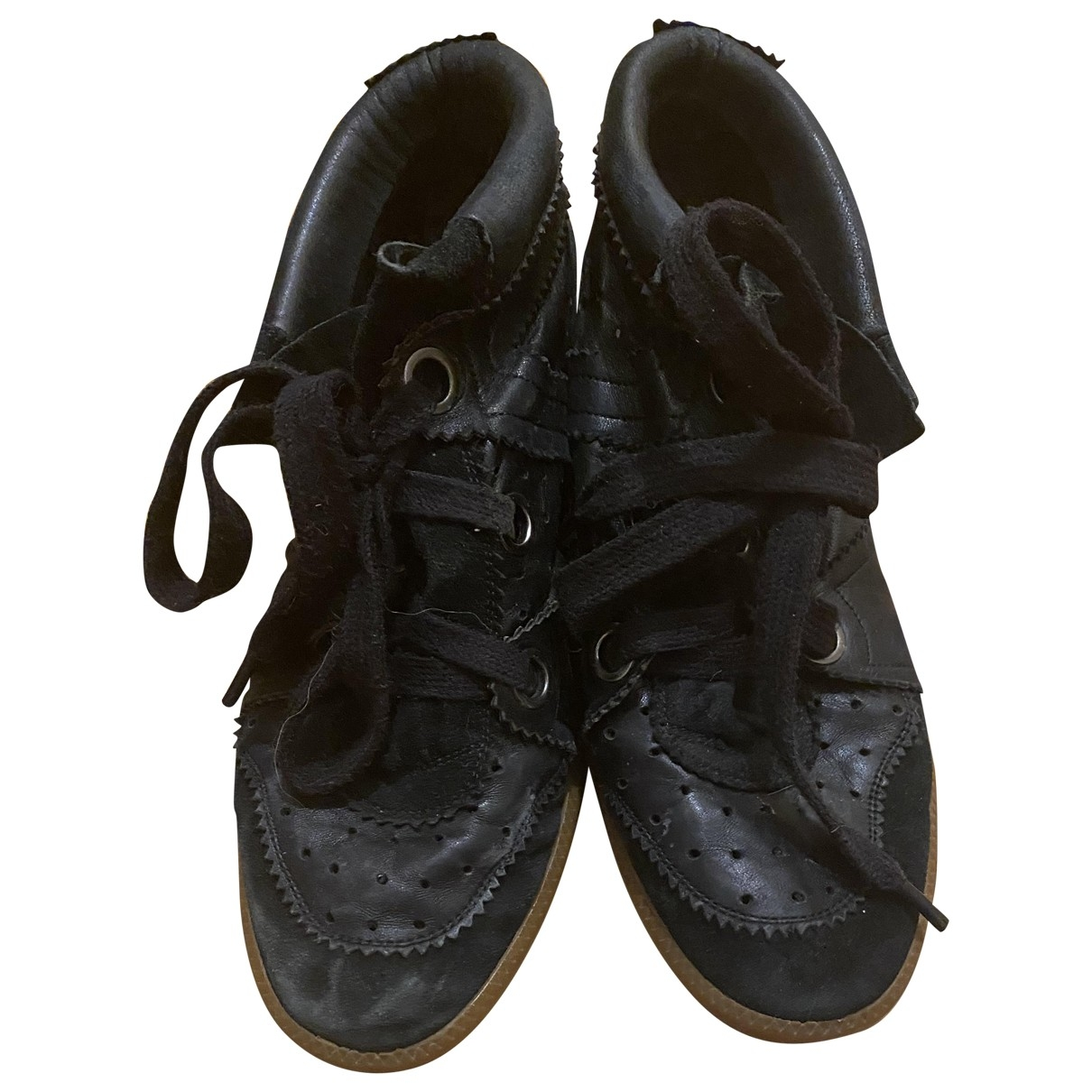 Isabel Marant Betty Black Leather Trainers for Women 41 EU