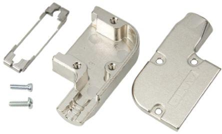 TE Connectivity , Amplimite Zinc D-sub Connector Backshell, 15 Way, Silver