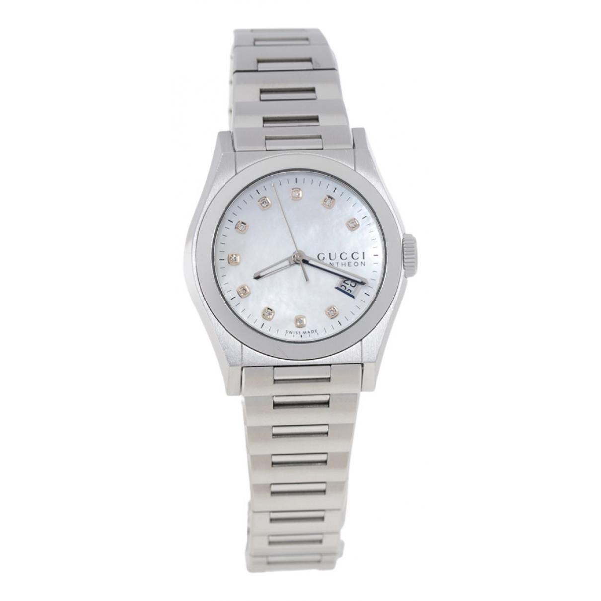 Gucci Pantheon Uhr in  Silber Stahl