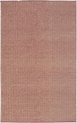 TSTTW296700140810 Twist TW2967-8' x 10' Hand-Woven Reversible Dhurrie New Zealand Wool Blend Rug in Red  Rectangle