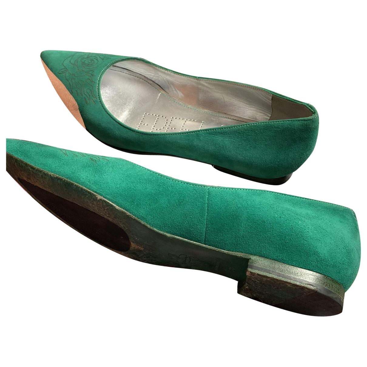 Free Lance \N Green Velvet Ballet flats for Women 38 EU