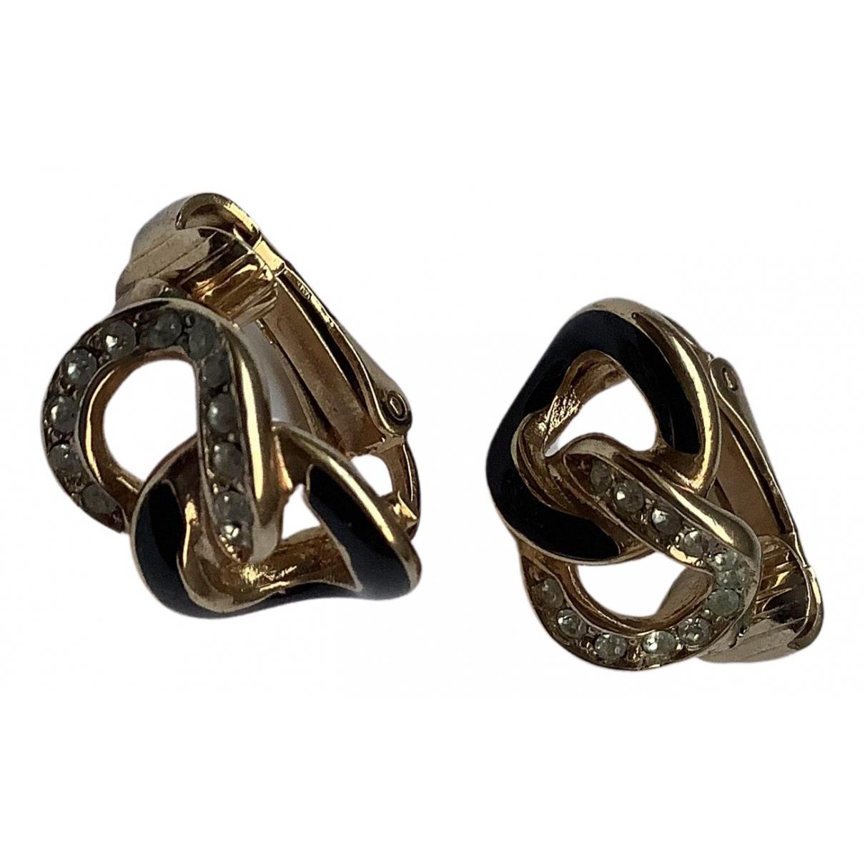 Dior \N OhrRing in  Schwarz Metall