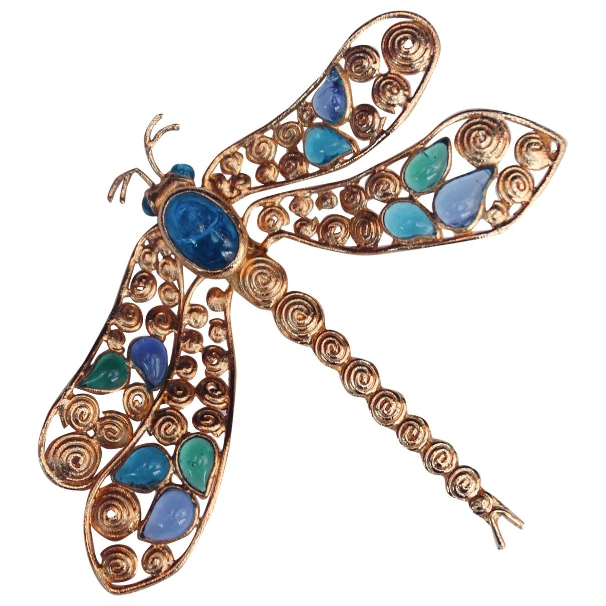 Broche en Metal Azul Loewe