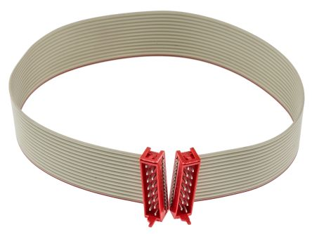 TE Connectivity Flat Ribbon Cable 250mm, IDC to IDC, 14 Ways, Serial Cable Assembly (5)