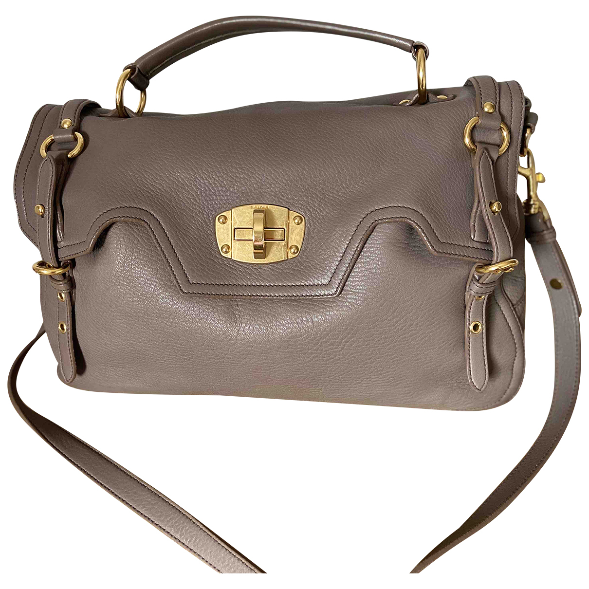 Miu Miu N Grey Leather handbag for Women N
