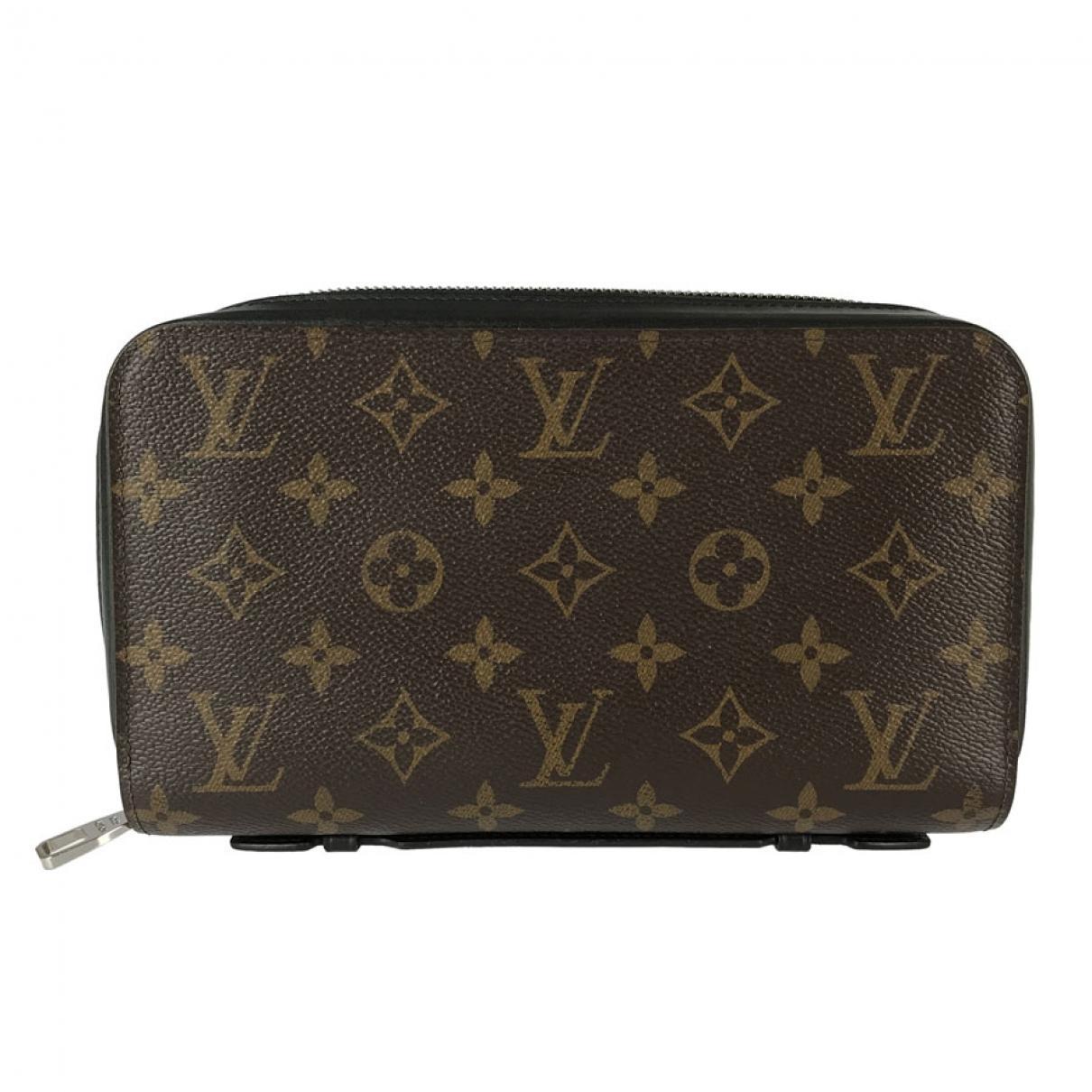 Louis Vuitton - Petite maroquinerie Zippy XL pour homme en toile - marron