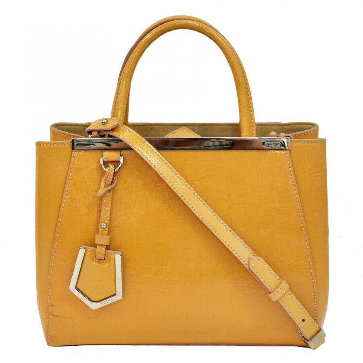 Fendi - Sac a main   pour femme en cuir - jaune