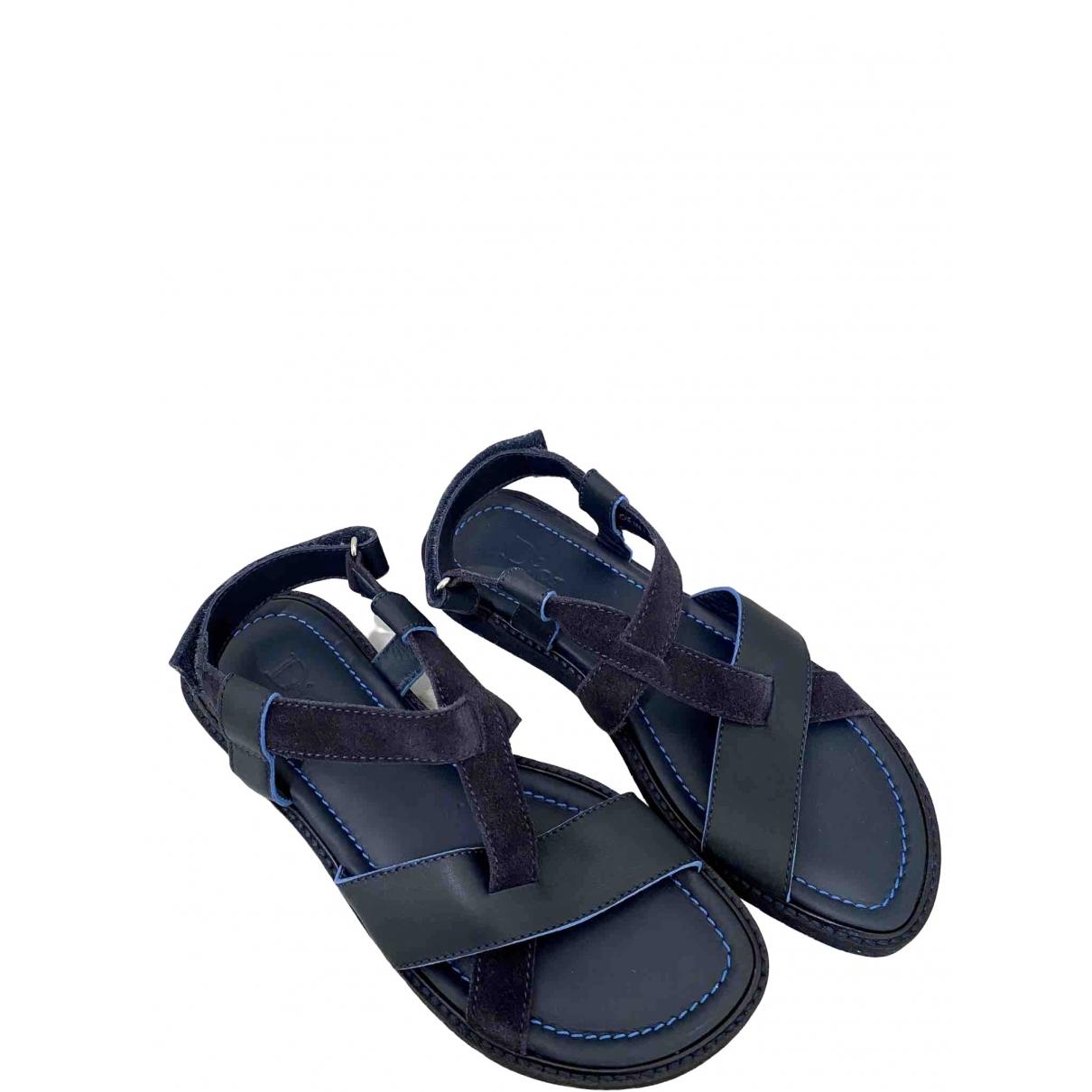 Baby Dior \N Sandalen in  Blau Leder