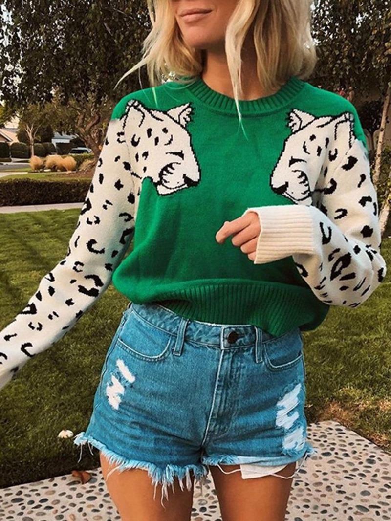 Ericdress Regular 3D Thin Long Sleeve Loose Sweater