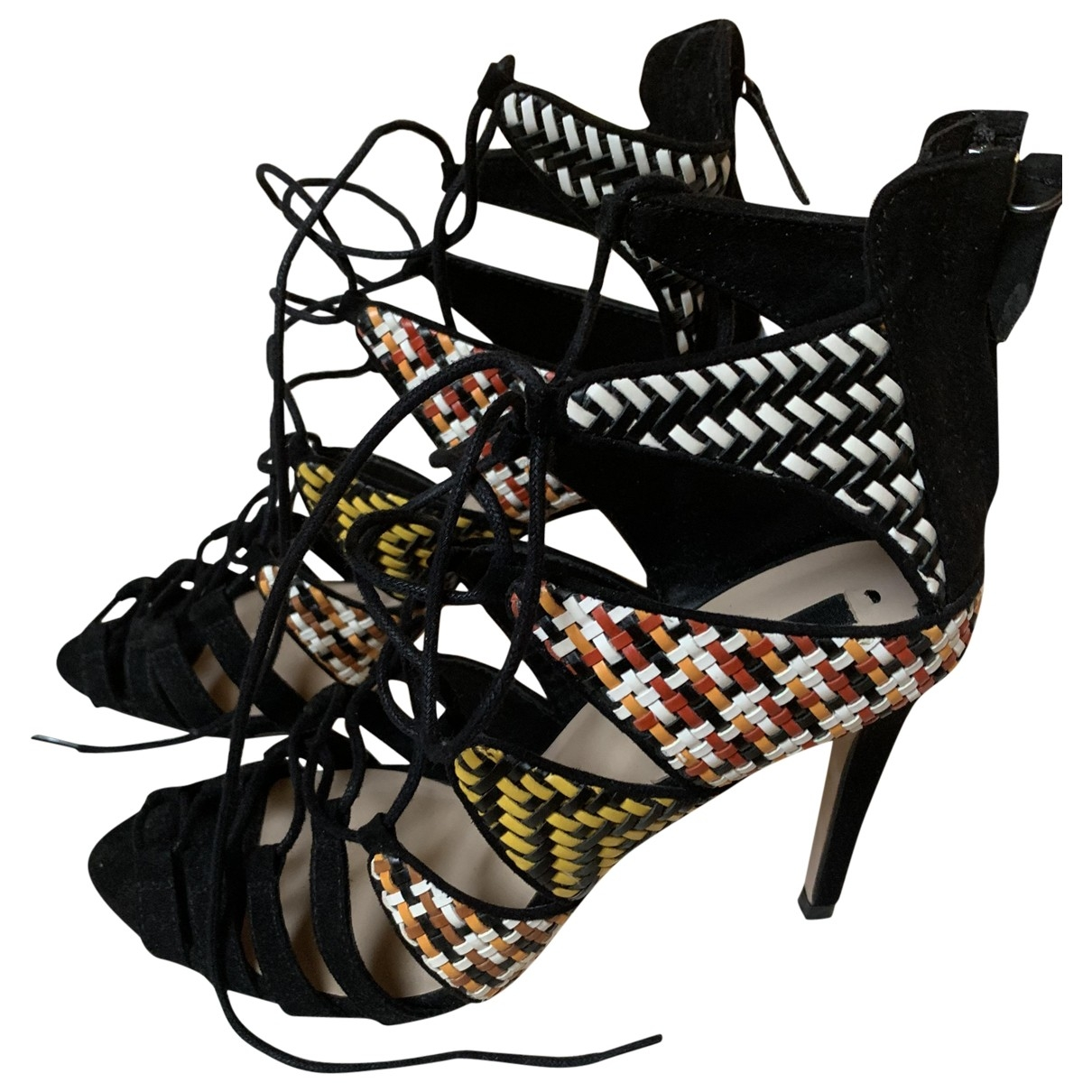 Zara \N Black Suede Sandals for Women 39 EU
