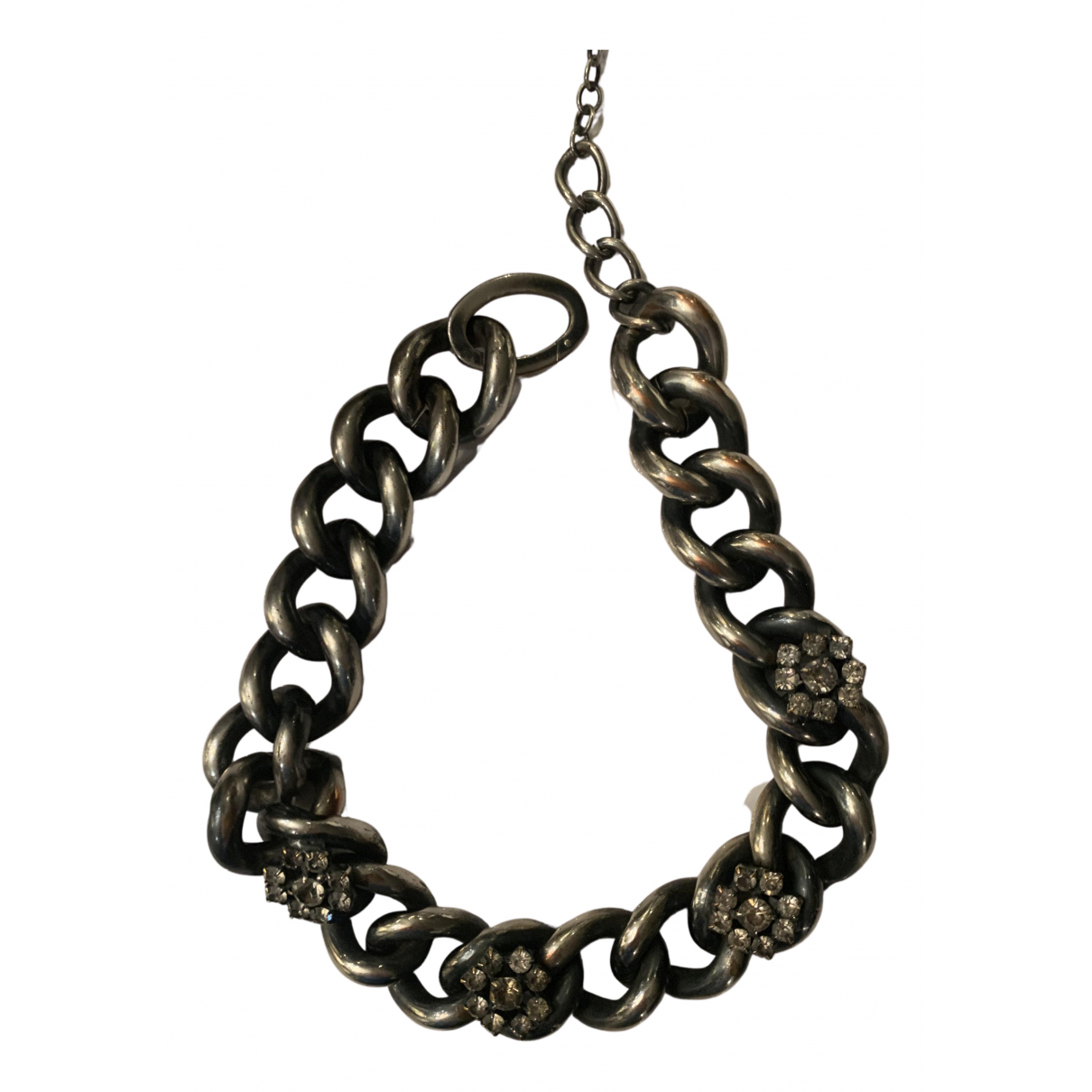 Ermanno Scervino N Grey Metal necklace for Women N
