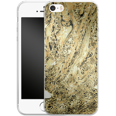 Apple iPhone 5s Silikon Handyhuelle - Marbled Sand von Amy Sia