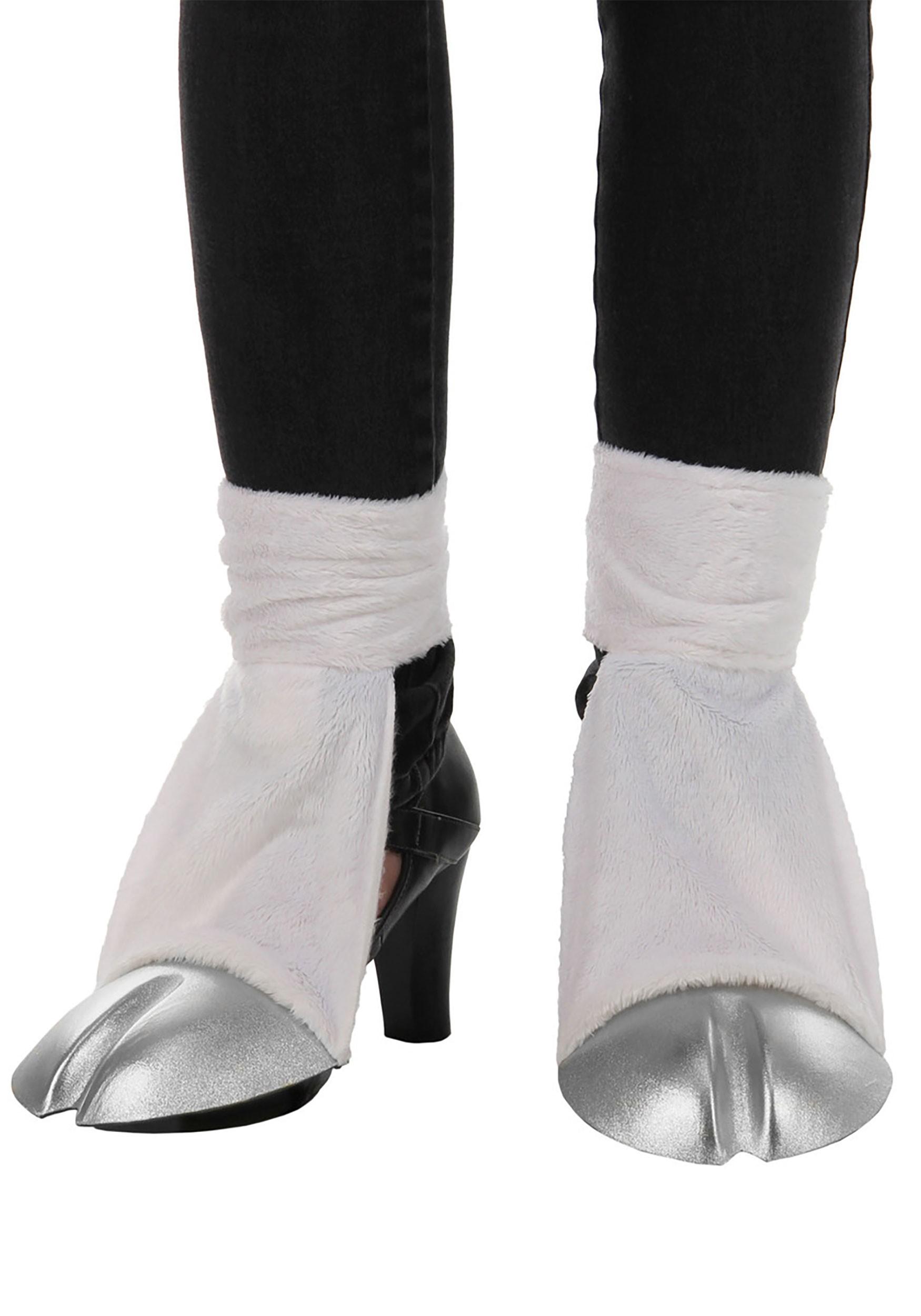 Unicorn Costume Back Silver Hooves