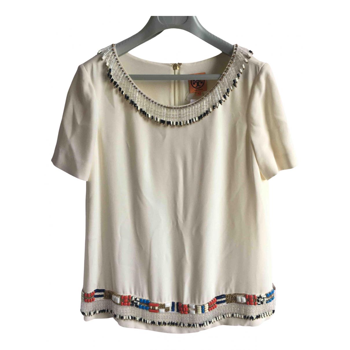 Tory Burch \N White Silk Knitwear for Women S International