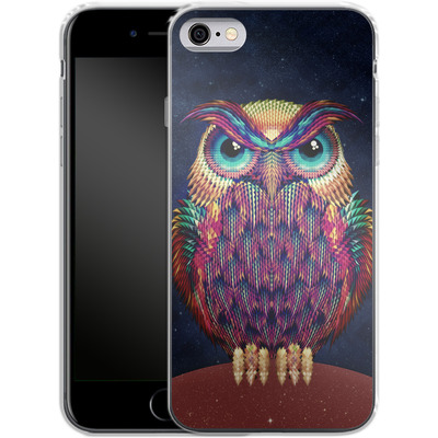 Apple iPhone 6s Silikon Handyhuelle - Owl von Ali Gulec