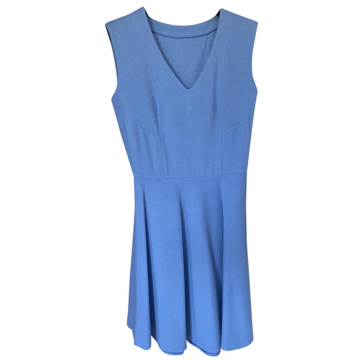 Ermanno Scervino \N Kleid in  Blau Wolle