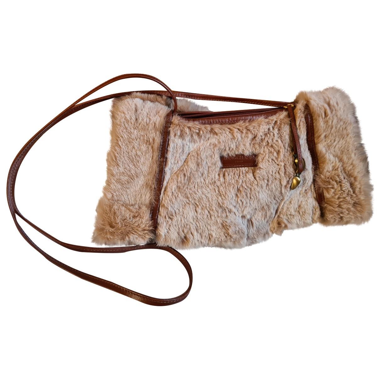 Longchamp \N Handtasche in  Braun Synthetikpelz