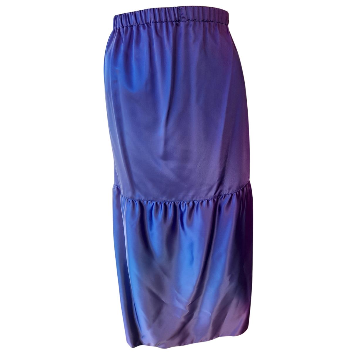 Yves Saint Laurent N Purple Cotton skirt for Women 40 FR