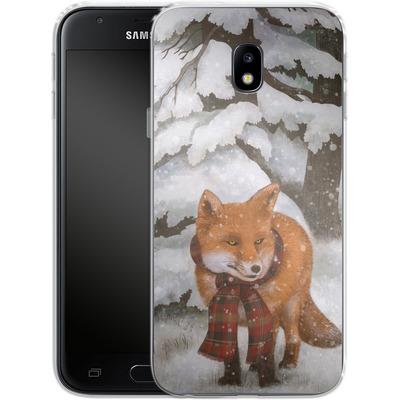 Samsung Galaxy J3 (2017) Silikon Handyhuelle - Winter Fox von Terry Fan