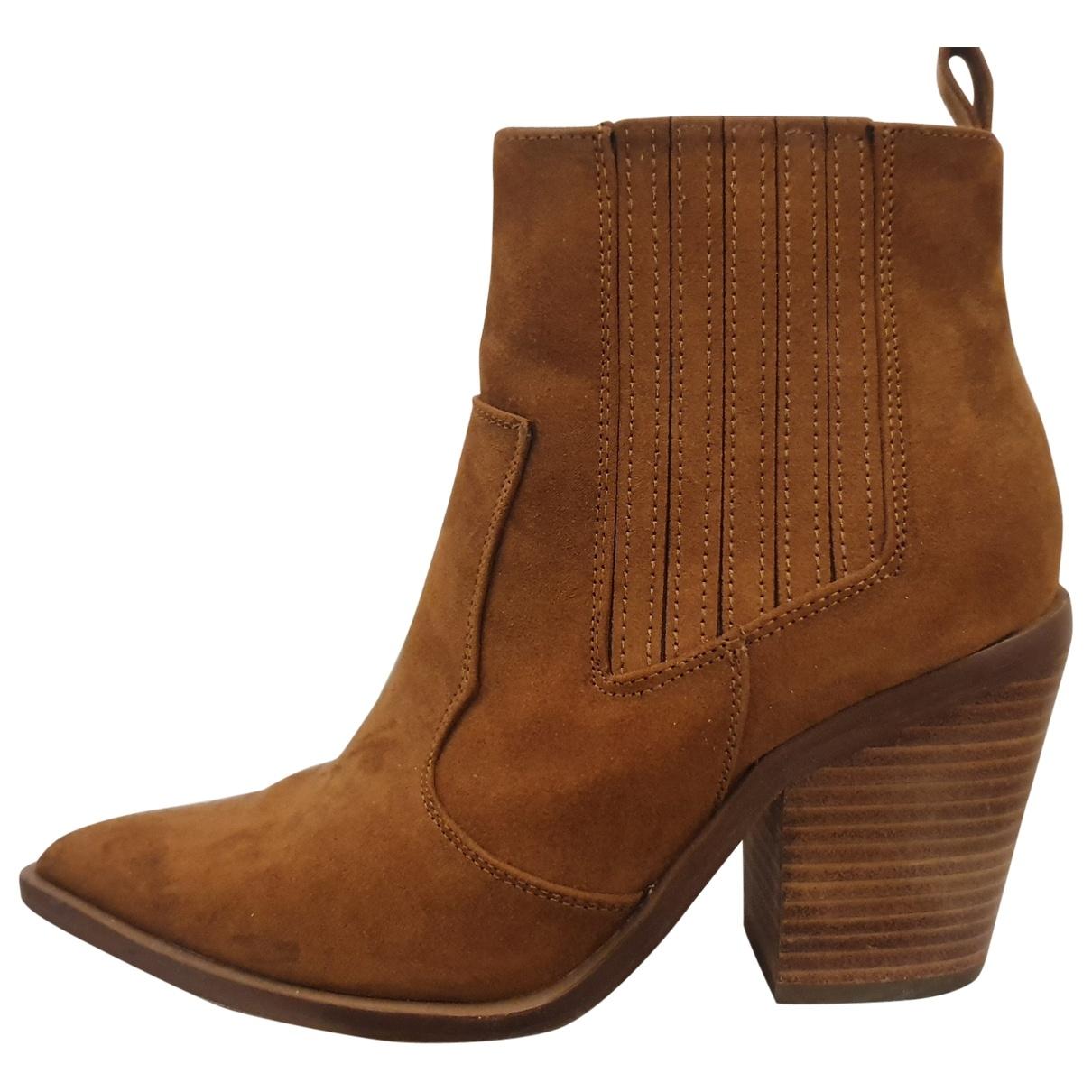 Asos - Bottes   pour femme en cuir verni - marron