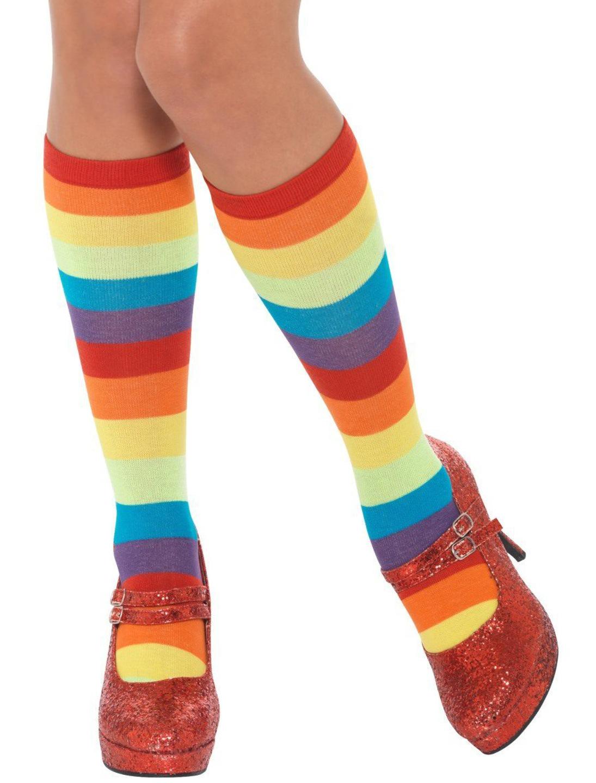 Kostuemzubehor Socken bunt mit Streifen Farbe: multicolor bzw. bunt