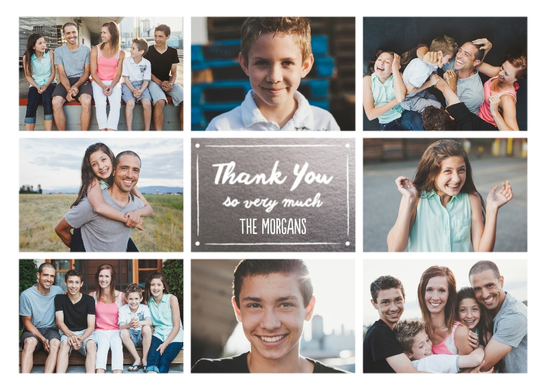 Thank You Cards 5x7 Folded Cards, Standard Cardstock 85lb, Card & Stationery -Thank You Collage