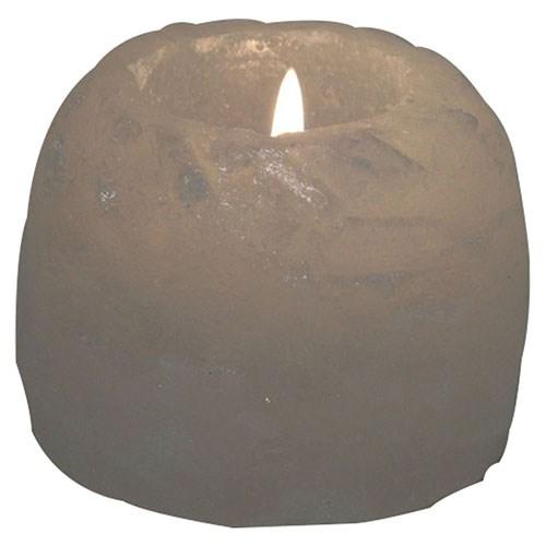 Himalayan Salt Lamps Tea Light Holder Mini White Salt 2.25 inches by Aloha Bay