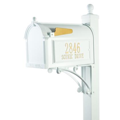 16297 Aluminum Deluxe Capitol Mailbox Package in