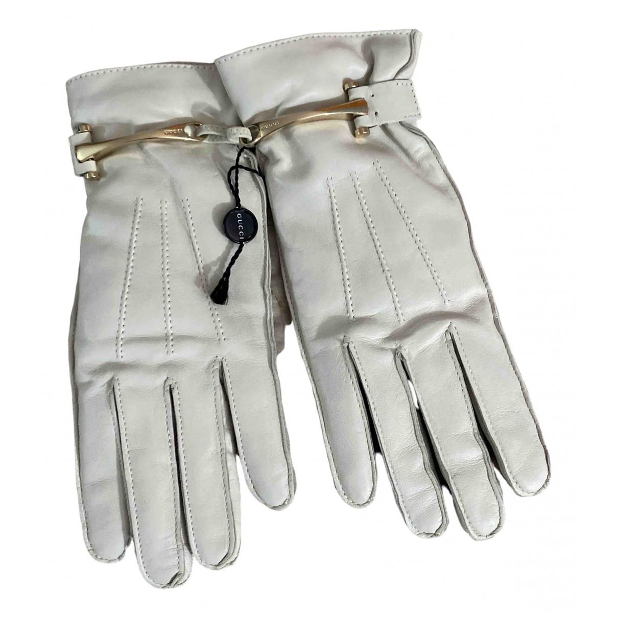 Gucci \N Handschuhe in  Weiss Leder