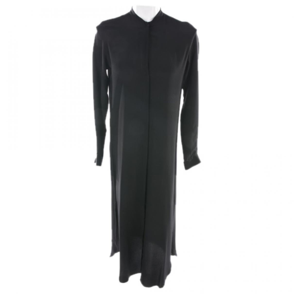 Caliban - Robe   pour femme en soie - noir
