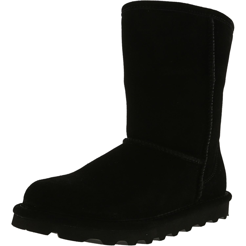 Bearpaw Women's Elle Short Black Ii Mid-Calf Suede Boot - 9M