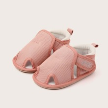 Baby Girl Cut-out Velcro Strap Flats