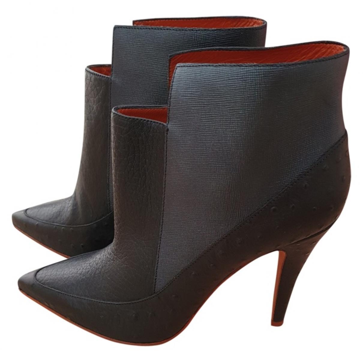 Missoni - Boots   pour femme en autruche - noir