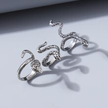 3pcs Serpentine Design Ring