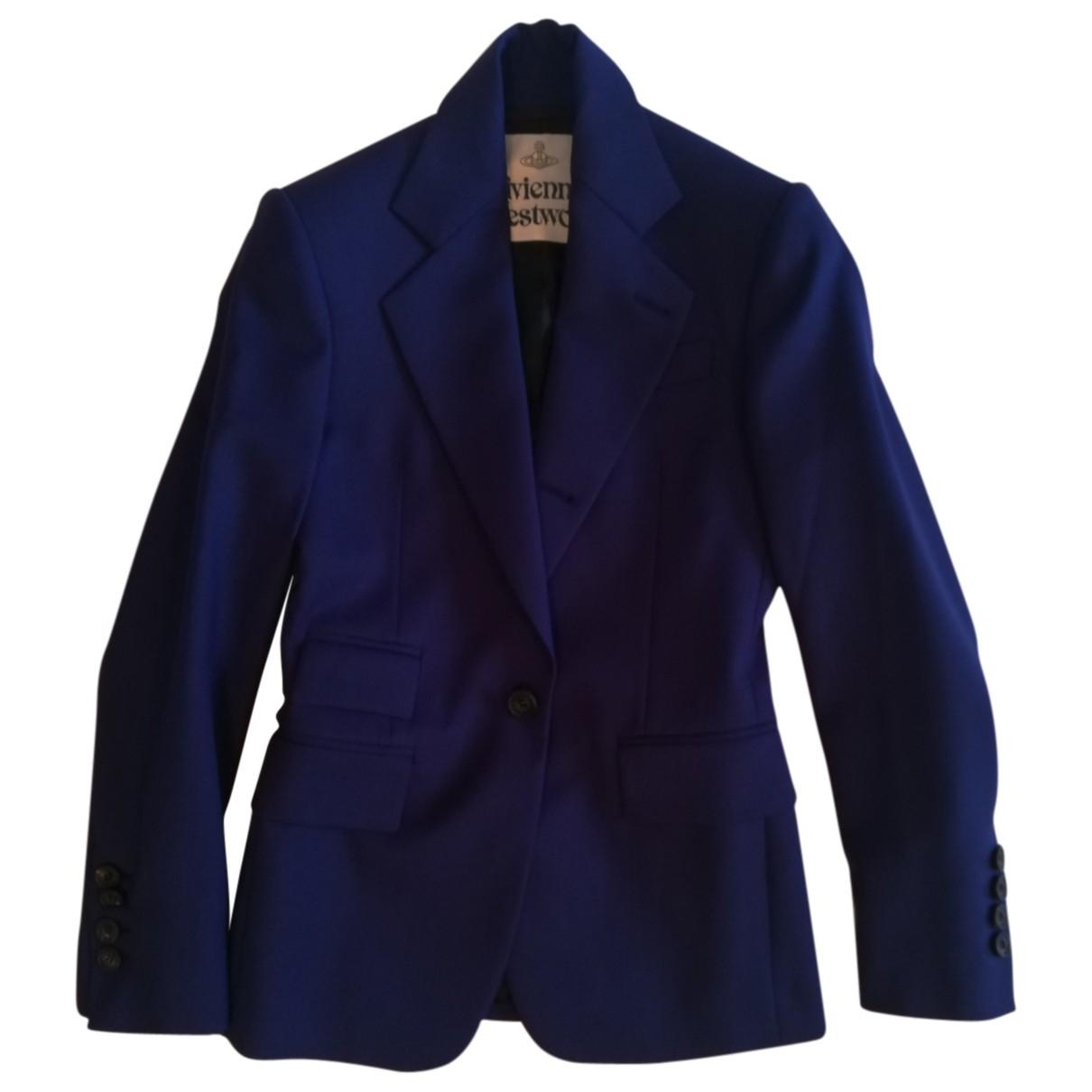 Vivienne Westwood N Blue Wool jacket for Women 38 IT